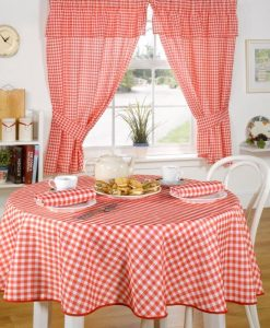 Molly - Kitchen Curtains - Red