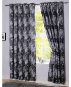 Sycamore - Readymade Curtains - Charcoal