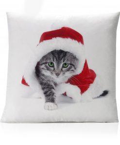 Xmas Kitten Cushion Cover