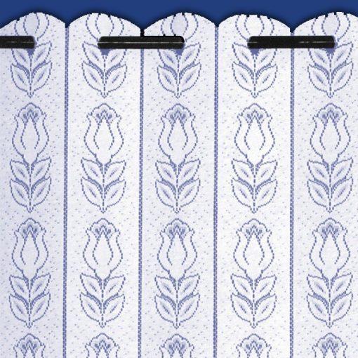 Tulip - White Net Louvre Blind