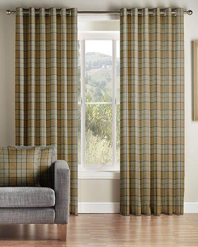 Montgomery Brae Mustard Curtains