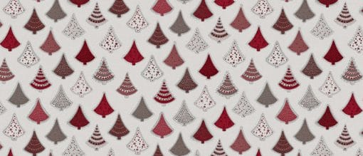 Christmas Tree Red Oil Cloth