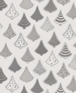 Christmas Tree Silver Oil Cloth