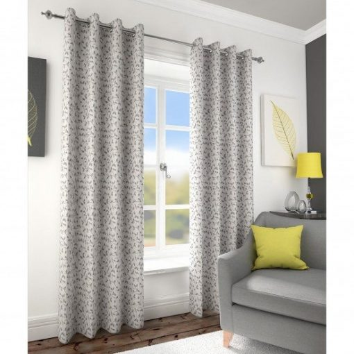 Folia Grey Readymade Curtains