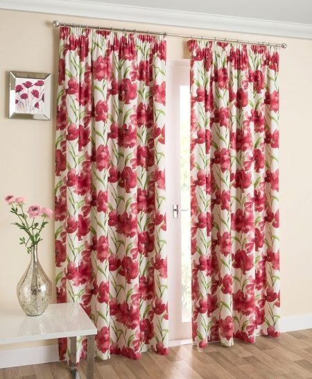 Henley Red Readymade Curtains