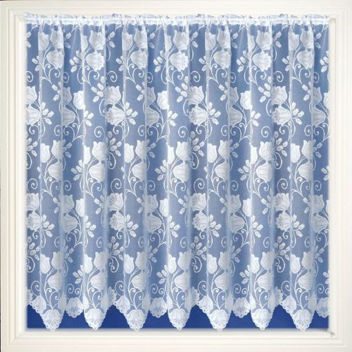 Lyon White Net Curtains