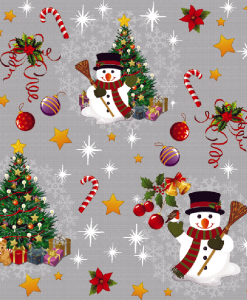 Snowman Oil Cloth