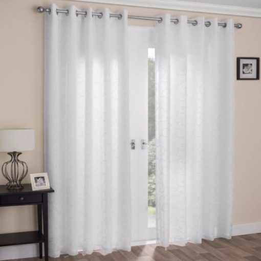 Venice Readymade Curtains White