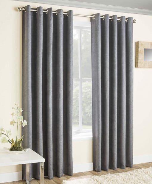 Vogue Readymade Curtains Grey