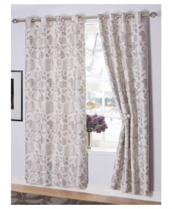 Belleville Readymade Curtain Silver