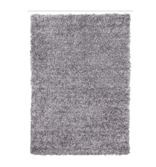 Cosy Shaggy Rugs Dark Grey Plain Design Duffys
