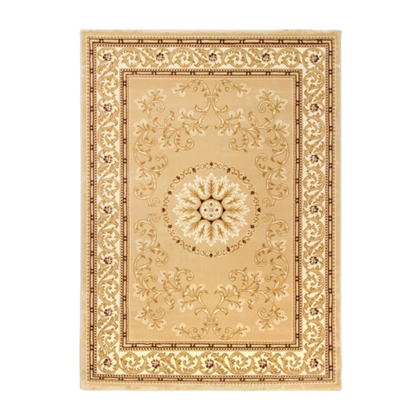 Cotswold Traditional Rug Gold Cream Design Duffys