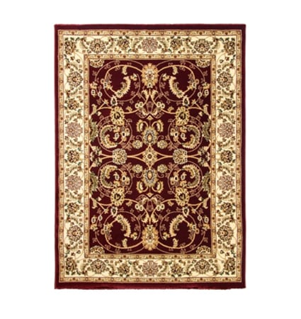 Cotswold Traditional Rug Red Cream Design Duffys