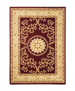 Kashmir Traditional Rug Cream Red Design Duffys